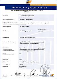Zertifikate Herstellerqualifikation