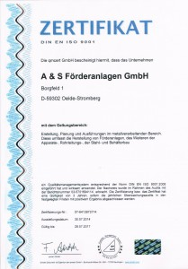Qualitätsmanagement Zertifzierung DIN ISO 9001