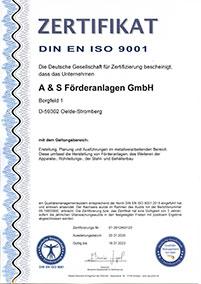 Download DIN ISO 9001 Zertifikat